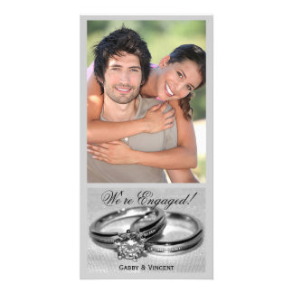 Diamond Wedding Ring Set Card