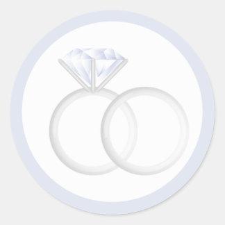 Diamond Wedding Rings Classic Round Sticker