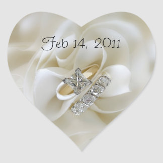 Diamond Wedding Rings Heart Stickers
