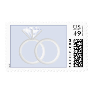 Diamond Wedding Rings Postage Stamp