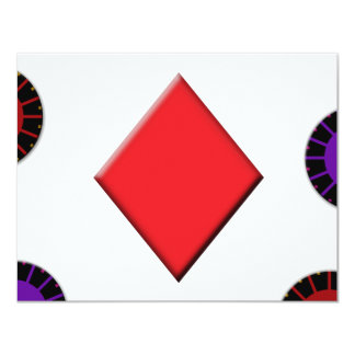 Diamond with Chips Card