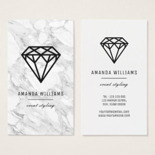 Diamond business cards templates zazzle diamond with marble business card colourmoves