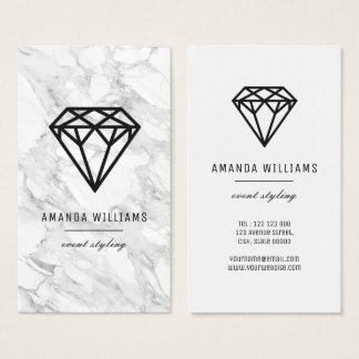 Diamond with Marble Business Card