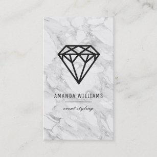 Diamond business cards zazzle diamond with marble business card colourmoves