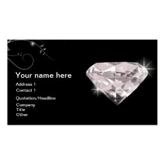 Diamond woman contact business card