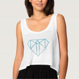 Diamond Women's Bella Flowy Crop Top Flowy Crop Tank Top