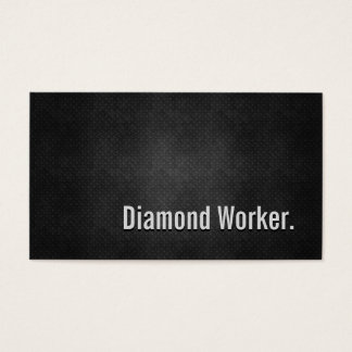 Diamond Worker Cool Black Metal Simplicity Business Card