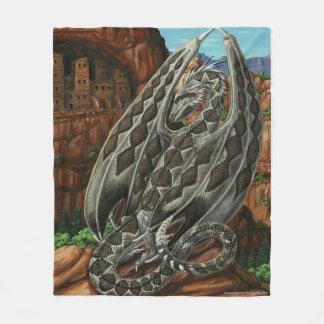 Diamondback Dragon Fleece Blanket