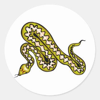 Diamondback Snake Classic Round Sticker