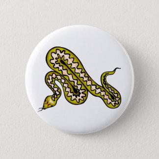 Diamondback Snake Pinback Button