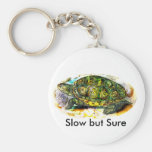diamondback Terrapin Turtle from JungleWalk.Com Basic Round Button Keychain