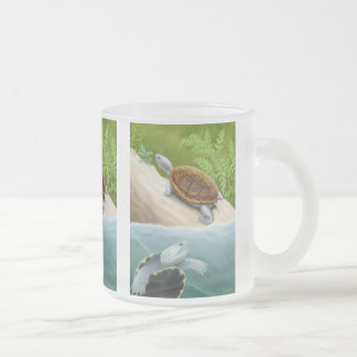 Diamondback Terrapins Frosted Glass Mug