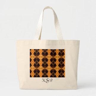 Diamondback Weave Large Tote Bag
