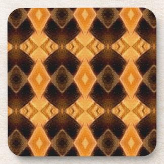 Diamondback Weave Pattern Cork Coaster Set