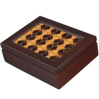 Diamondback Weave Pattern Memory Box
