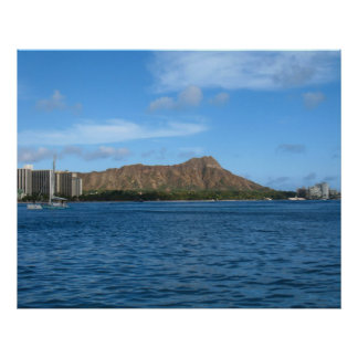 Diamondhead Oahu Hawaii Poster