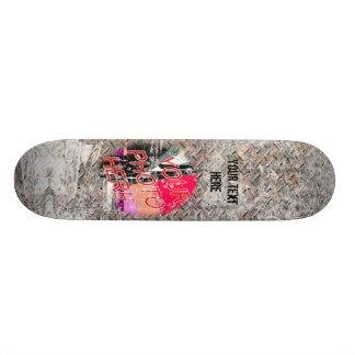 Diamondplate Grunge Template Skateboard
