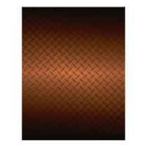 Diamondplate Look Pattern Black to Copper Fade Flyer