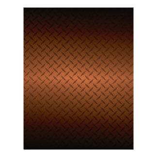 """Diamondplate Look Pattern Black to Copper Fade 8.5"""" X 11"""" Flyer"""