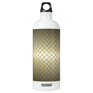 Diamondplate Pattern with Black to Gold Fade SIGG Traveler 1.0L Water Bottle