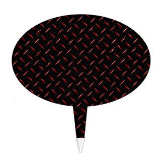 Diamondplate rojo y negro decoración para tarta