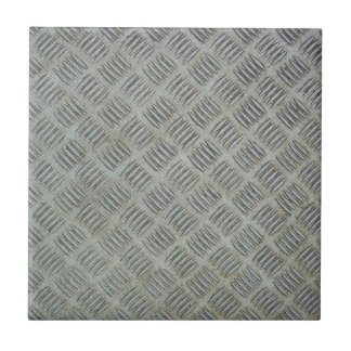 Diamondplated Patterned Metal Texture Panel Ceramic Tile