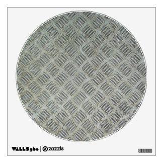 Diamondplated Patterned Metal Texture Panel Wall Sticker