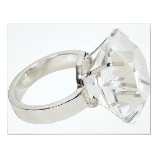 DiamondRing081309 4.25x5.5 Paper Invitation Card