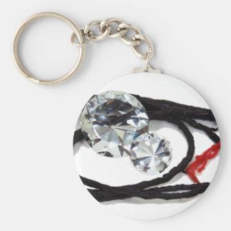 DiamondRough0331091 Basic Round Button Keychain