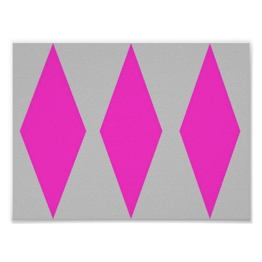 Diamonds abstract Pattern Poster