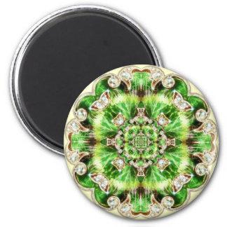 Diamonds and Clover Brooch Design Magnet