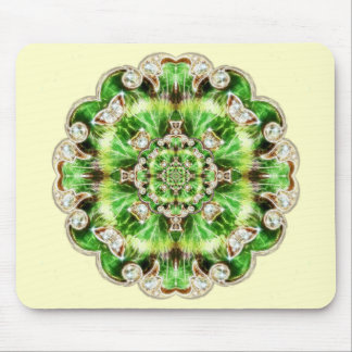 Diamonds and Clover Brooch Design Mouse Pad