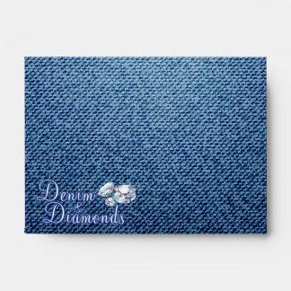 Diamonds and Denim Party, A6 Envelopes