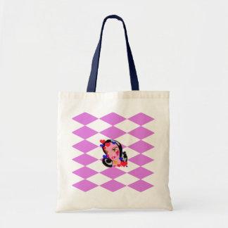 Diamonds and girl tote bag