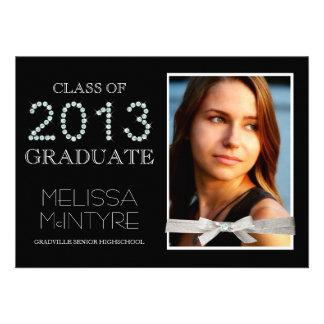 Diamonds and Glitter Bling Grad 2013 with Photo Invitations