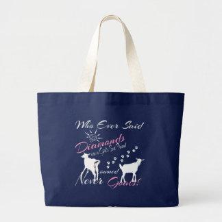 Diamonds and Goats Large Tote Bag
