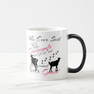 Diamonds and Goats 11 Oz Magic Heat Color-Changing Coffee Mug