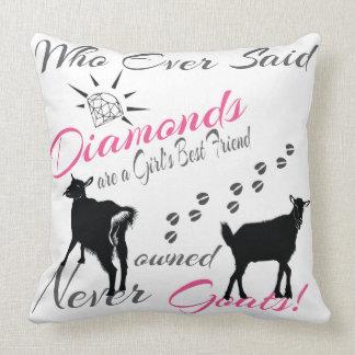 Diamonds and Goats Throw Pillow