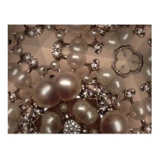 Diamonds and pearls postcard