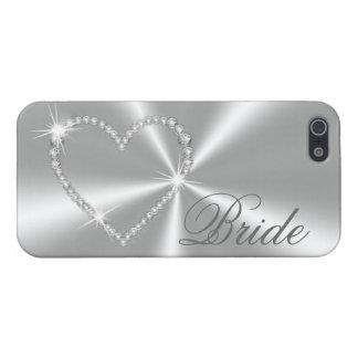 DIAMONDS AND SILVER BRIDE iPHONE CASE