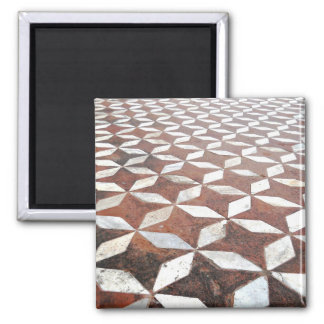 Diamonds and Stars 2 Inch Square Magnet
