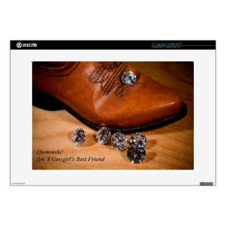 Diamonds Are A Cowgirl's Best Friend Western Boot Skins For Laptops