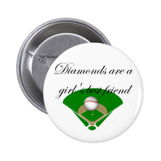Diamonds are a girl s best friend T-shirts Button