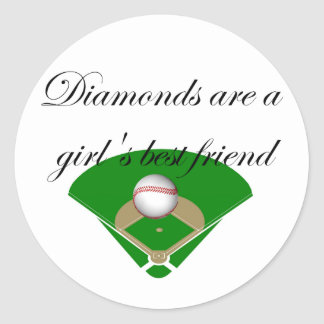 Diamonds are a girl s best friend T-shirts Round Stickers