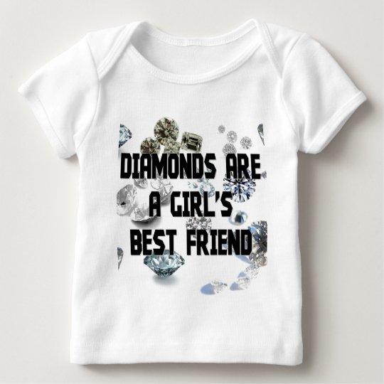 Diamonds Are A Girl's Best Friend Baby T-Shirt