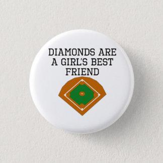 Diamonds Are A Girl's Best Friend Button
