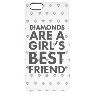 Diamonds are a girl's best friend clear iPhone 6 plus case