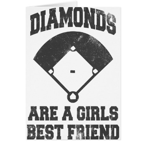 Diamonds Are A Girl's Best Friend Greeting Card
