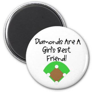 Diamonds are a Girl's Best Friend! Magnet