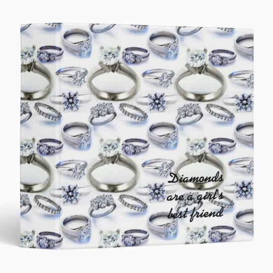 Diamonds are a Girl's Best Friend Notebook Binder